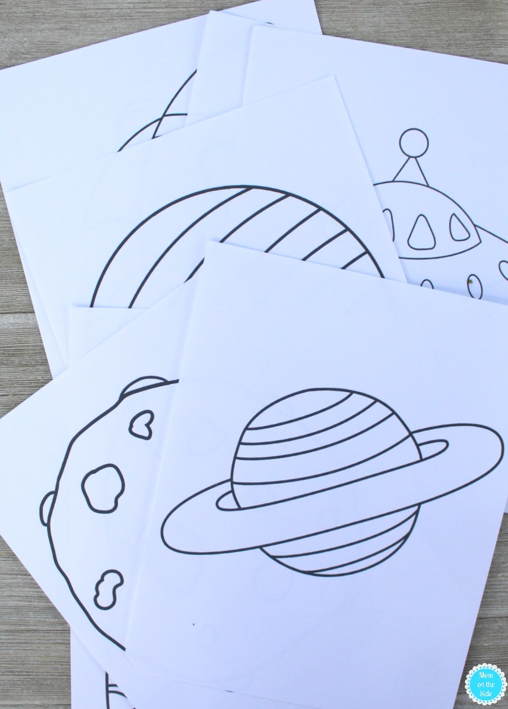 Printable Outer Space Coloring Book | Mom on the Side