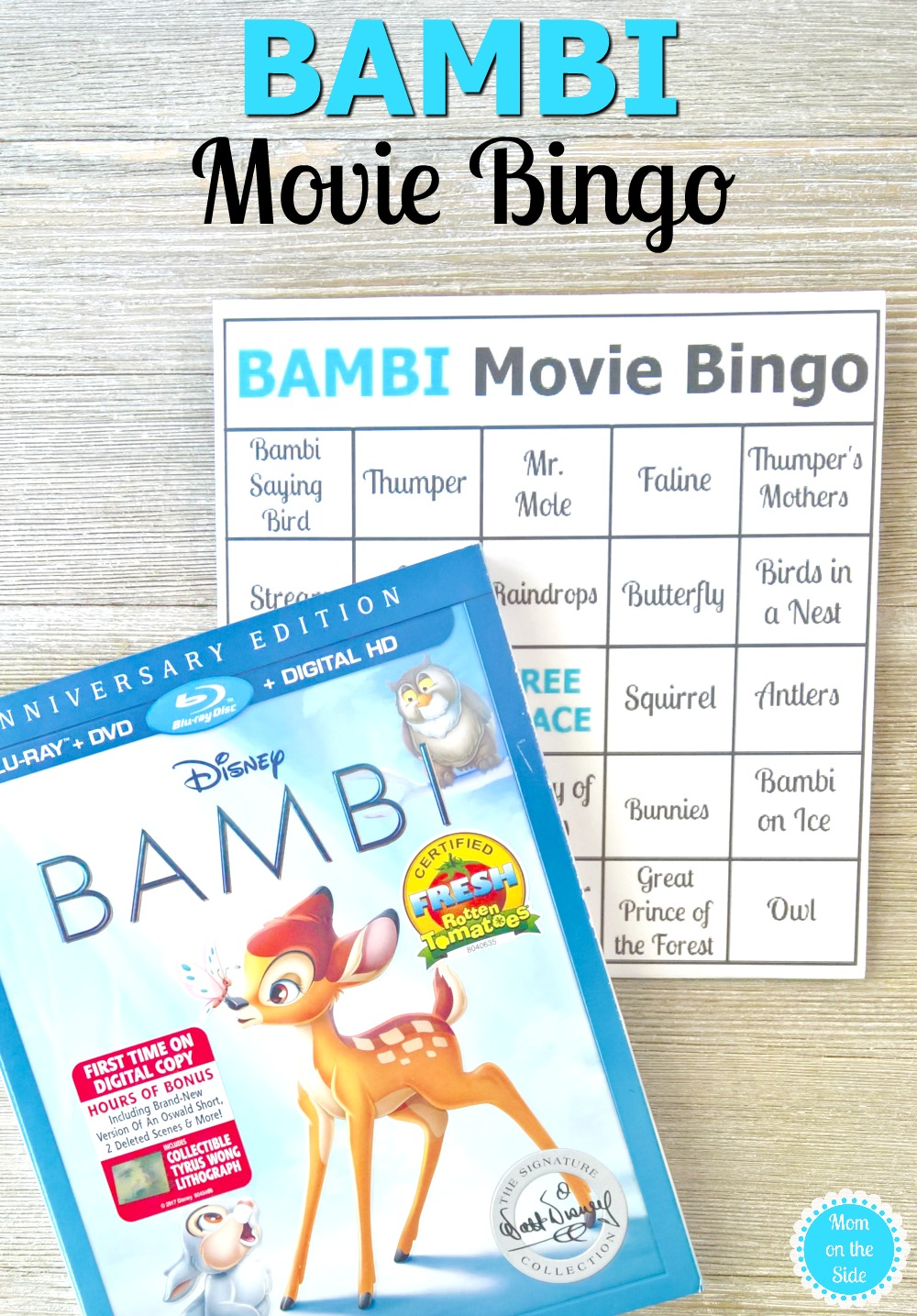 image about Disney Bingo Printable referred to as Bambi Online video Bingo Printables for Relatives Video clip Night time Mother upon