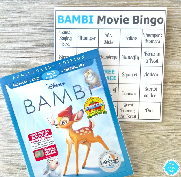 Bambi Movie Bingo Cards