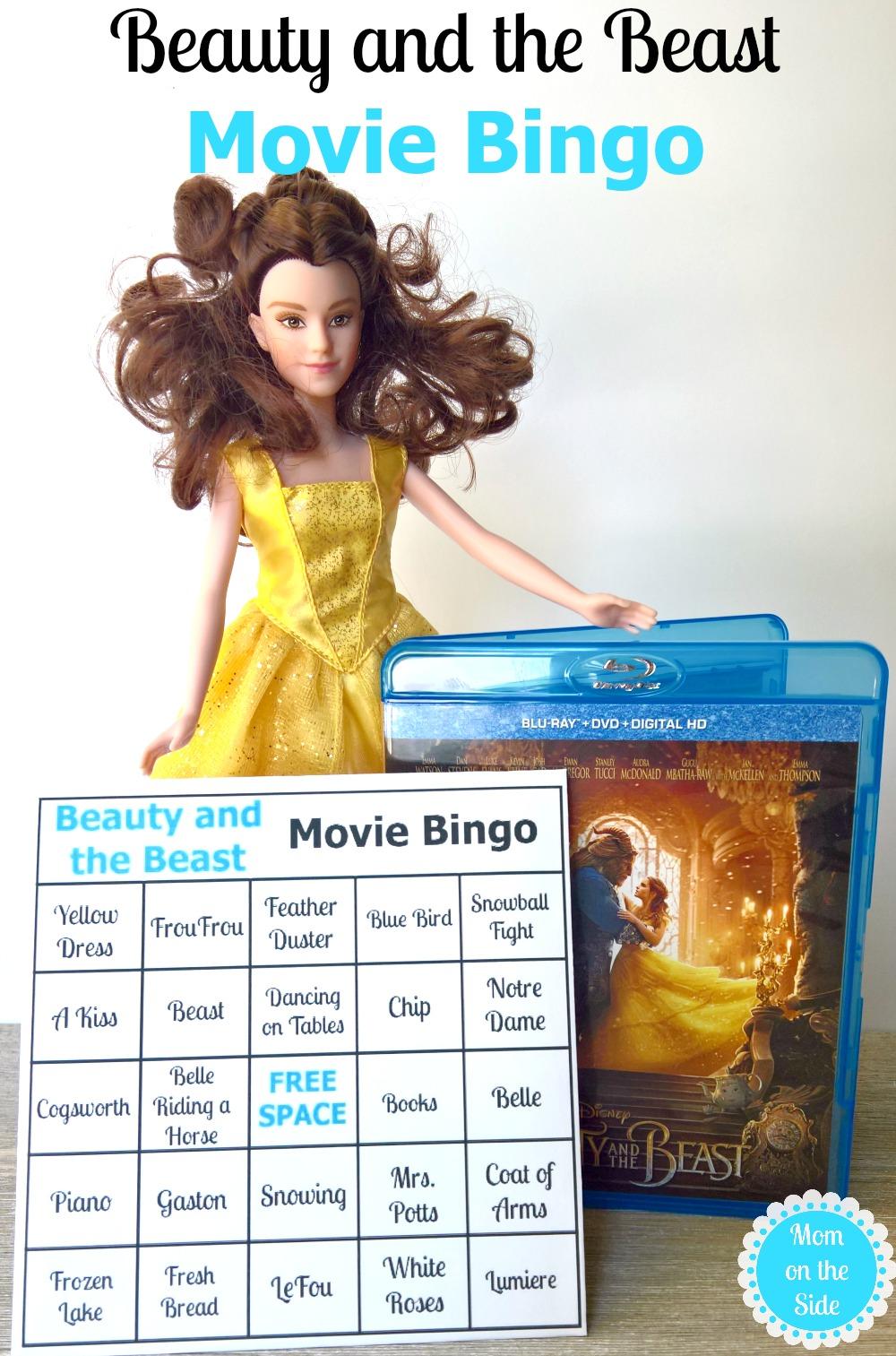 Printable Beauty and the Beast Movie Bingo Cards