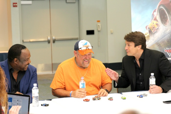 Cars 3 Cast Interviews with Nathan Fillion