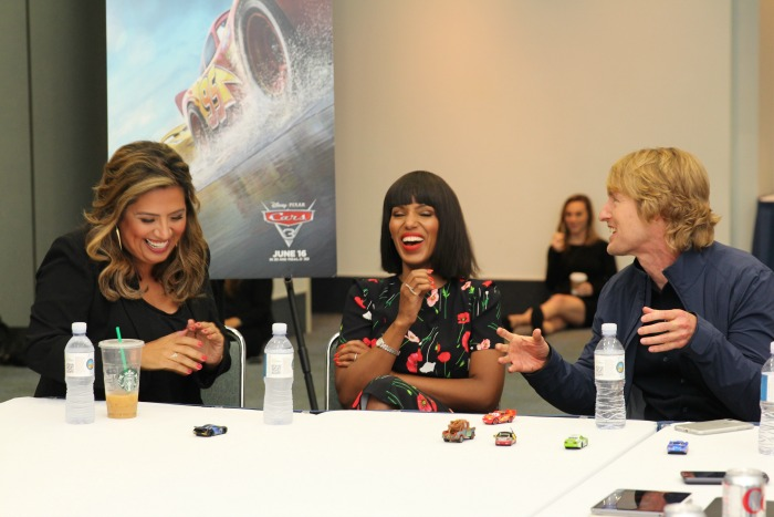Cars 3 Interviews with Kerry Washington and Cast
