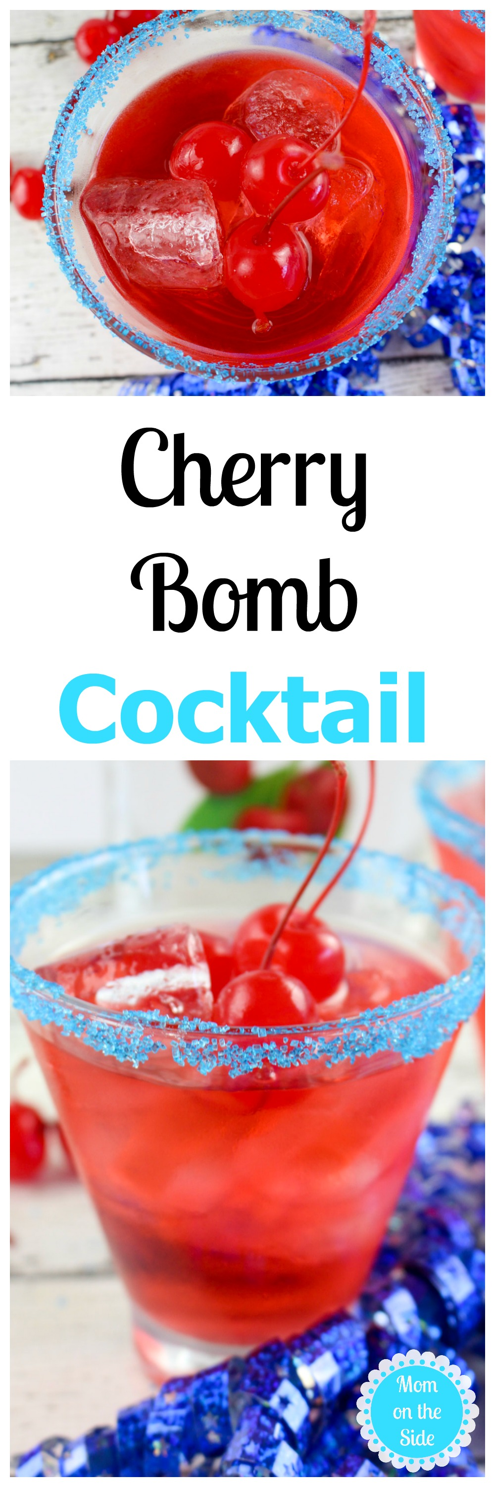 This Thirsty Thursday is a drink perfect for adult 4th of July parties! The Cherry Bomb Cocktail is light and refreshing with a touch of alcohol.