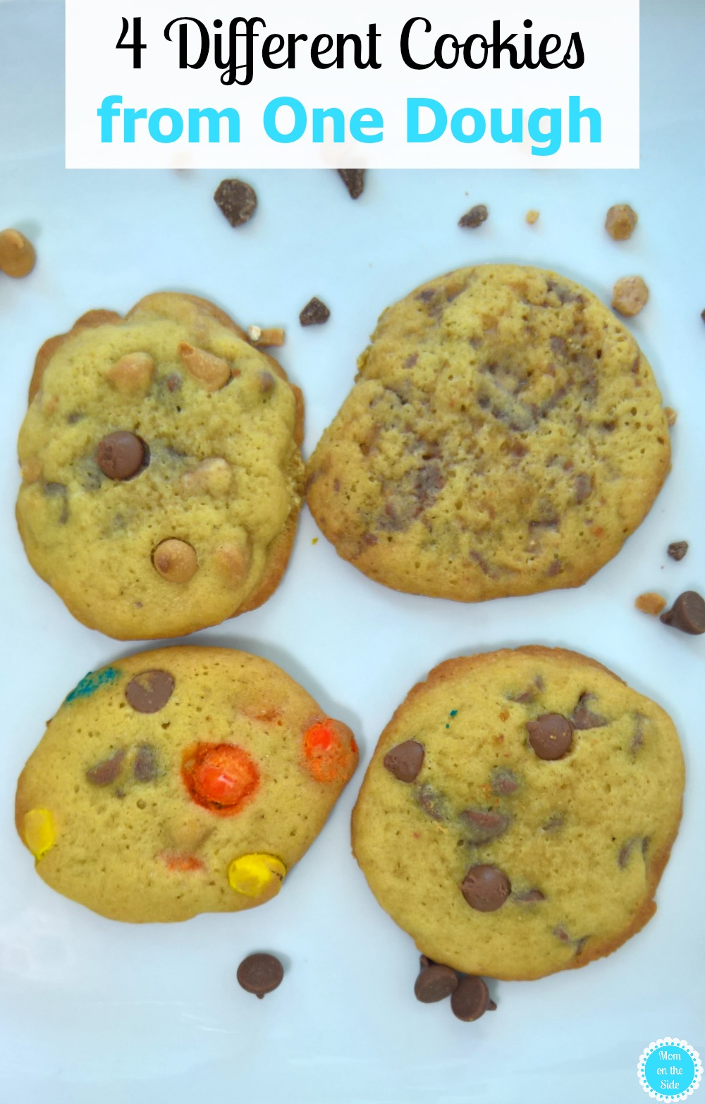 4 Different Cookies From One Dough