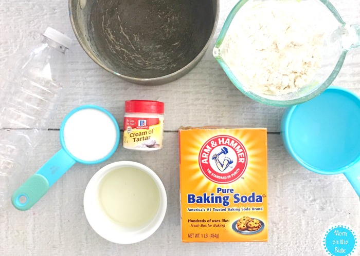 Homemade Playdough Volcano Ingredients
