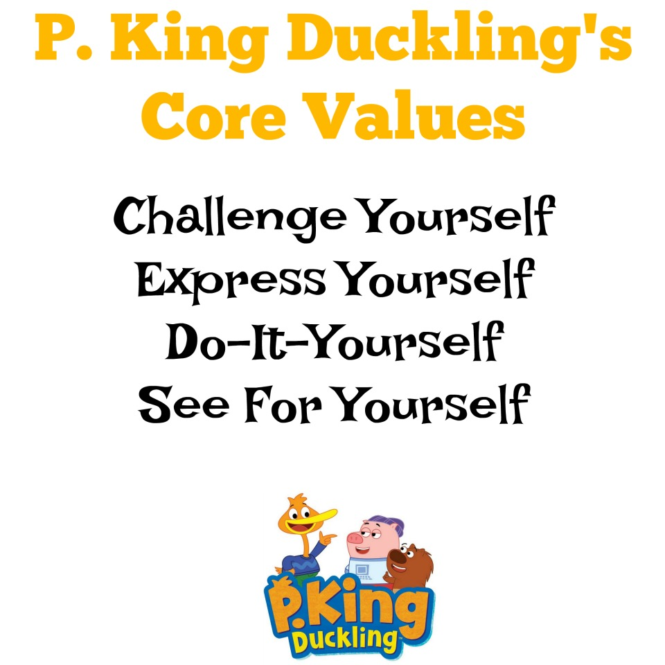 P. King Ducklings Core Values on Disney Junior