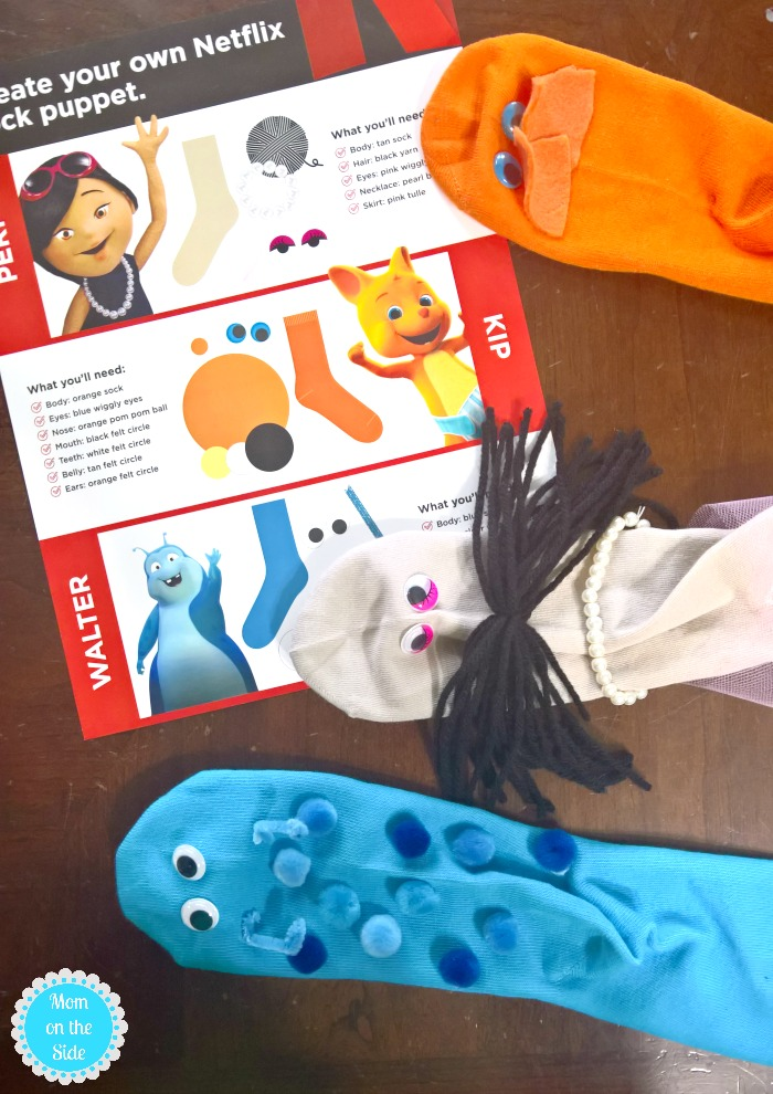 DIY Sock Puppets for DIY Puppet Show Stage