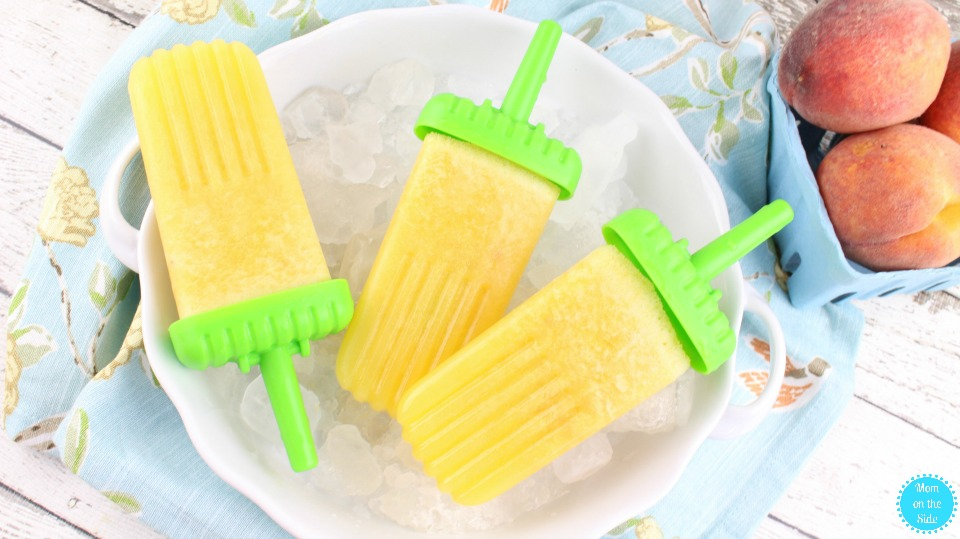 Adult Popsicles: Peach Bellini Pops Recipe