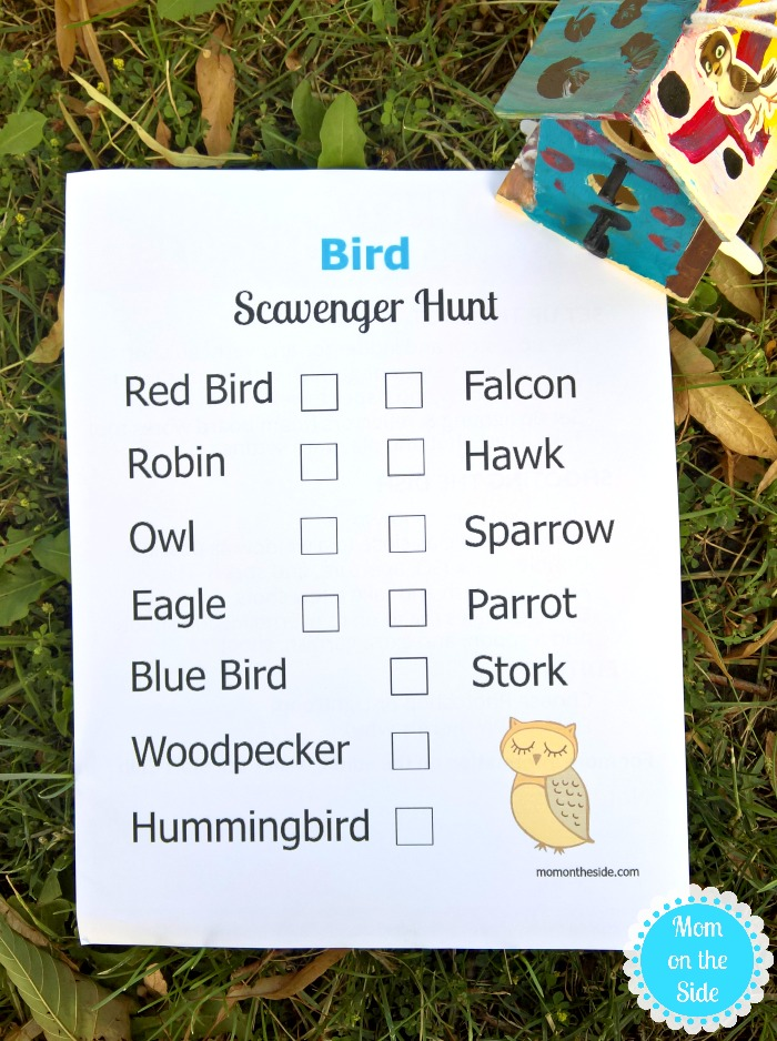 Printable Bird Scavenger Hunt for Kids