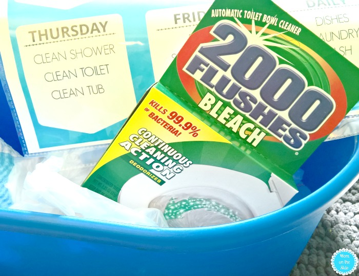 weekly cleaning schedule with 2000 Flushes