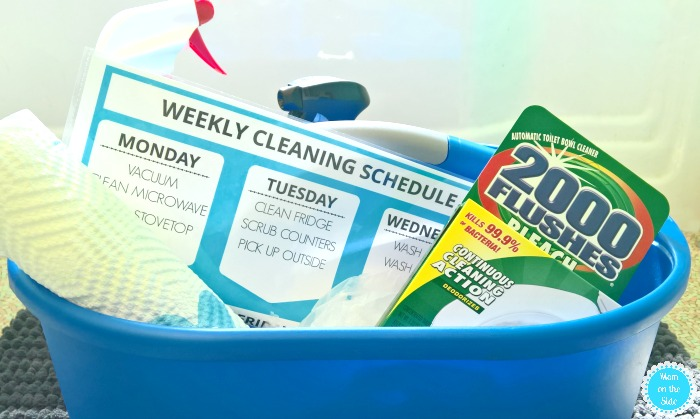 free printable of my weekly cleaning schedule