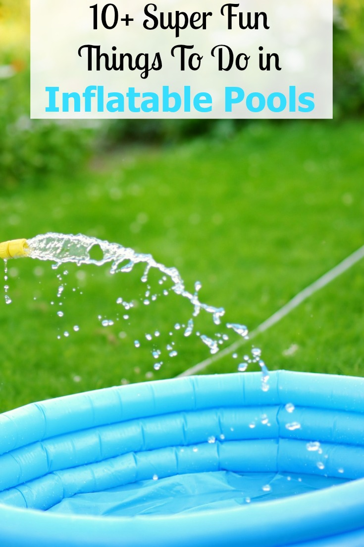 Have fun beyond swimming with these things to do in inflatable pools. Play a game of S.H.A.R.K, Hot Potato Splash, or one of the other 10+ pool games!