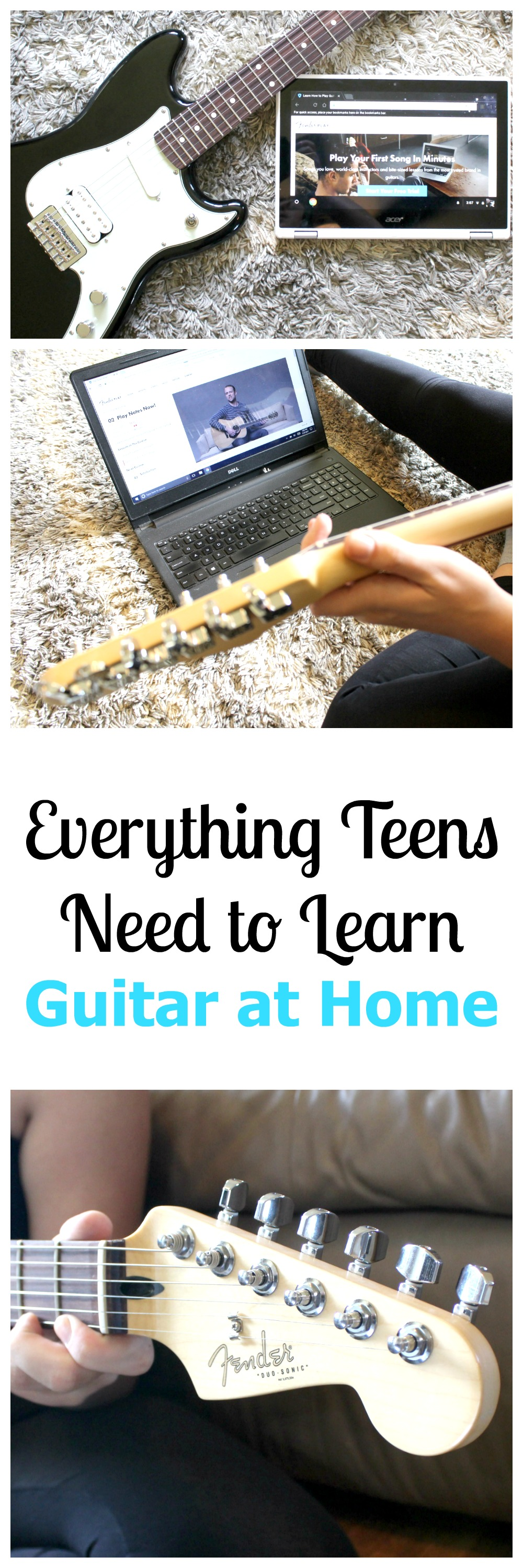 Teens Need to Learn Guitar at Home with Fender