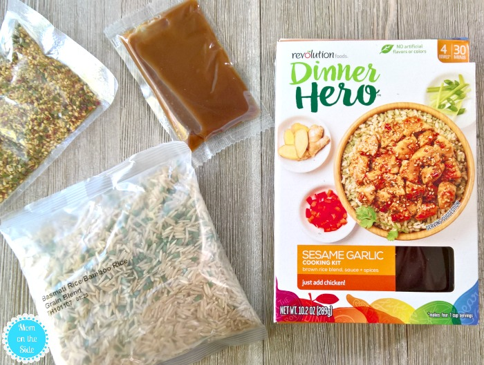 Making families convenient healthy meals with Revolution Foods kits!