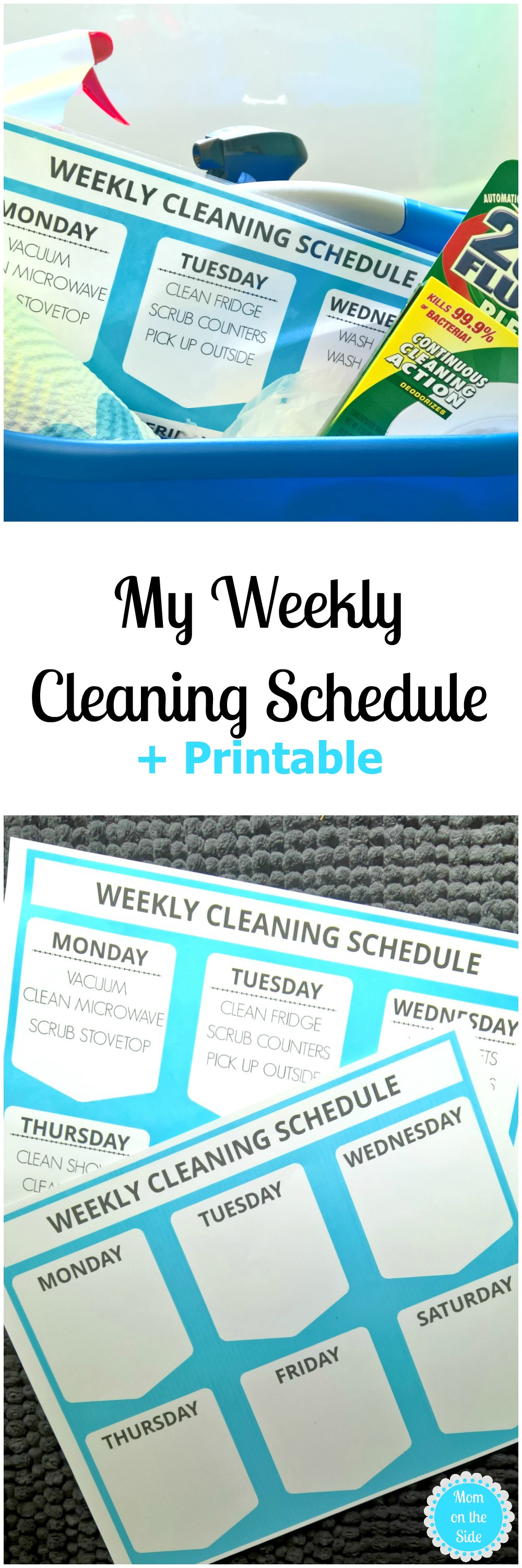 Tackle Chores with My Weekly Cleaning Schedule + Free Printable