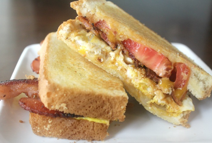 Breakfast Grilled Cheese with Farmland Applewood Smoked Bacon