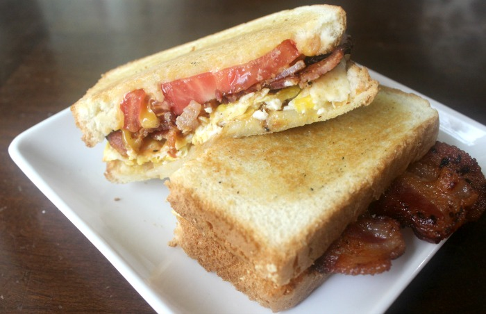 Breakfast Grilled Cheese made with Farmland Bacon