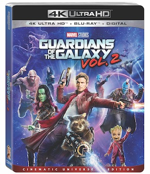 Guardians of the Galaxy Vol 2 Quotes and Bonus Features on Blu-ray