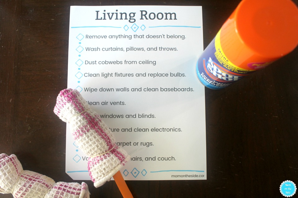 Living Room Cleaning Hacks and Printable Living Room Cleaning Check List