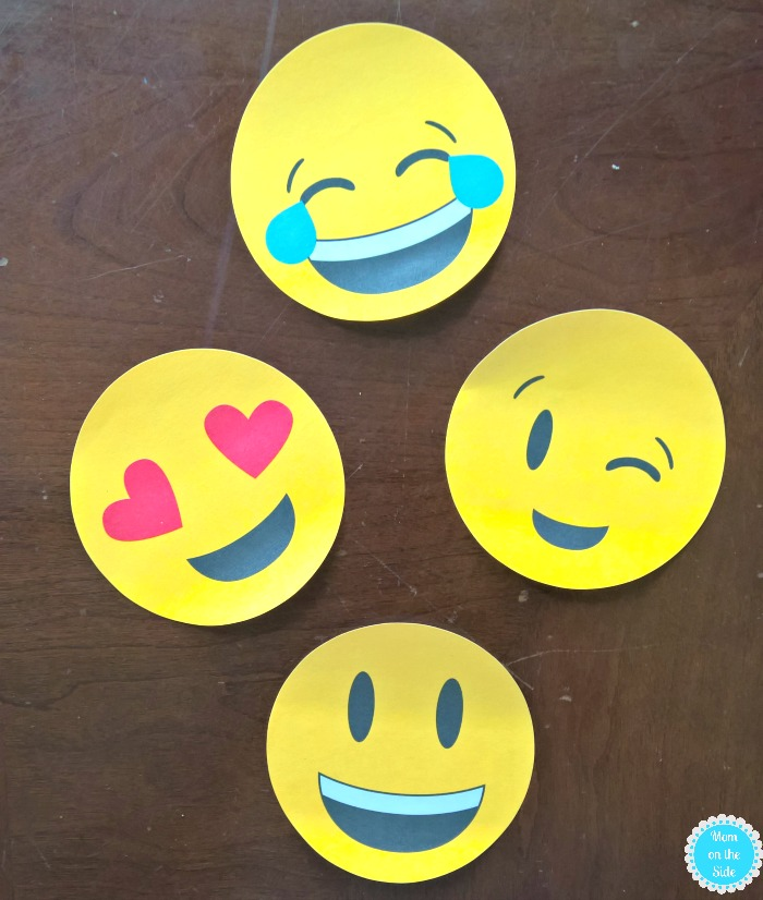 Post-It Emojis for a Preschool Teacher Gift Basket
