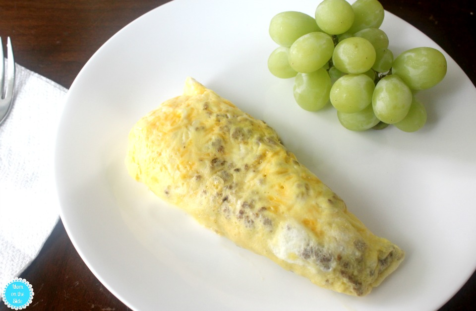 Sausage Omelette in a Bag with Horizon Organic Milk