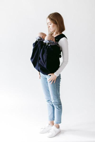 Babywearing Twins with Weego Twin Baby Carrier