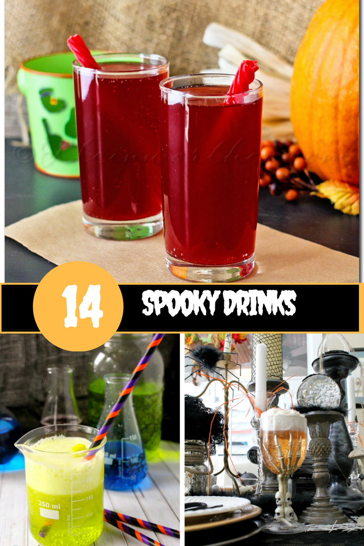 Spooky non-alcoholic Halloween Drinks for Kids