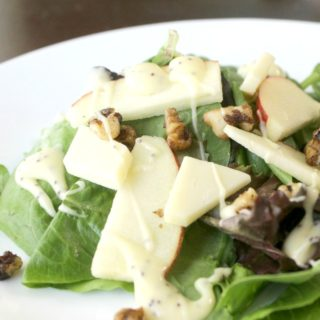 Autumn Apple Salad with Candied Walnuts