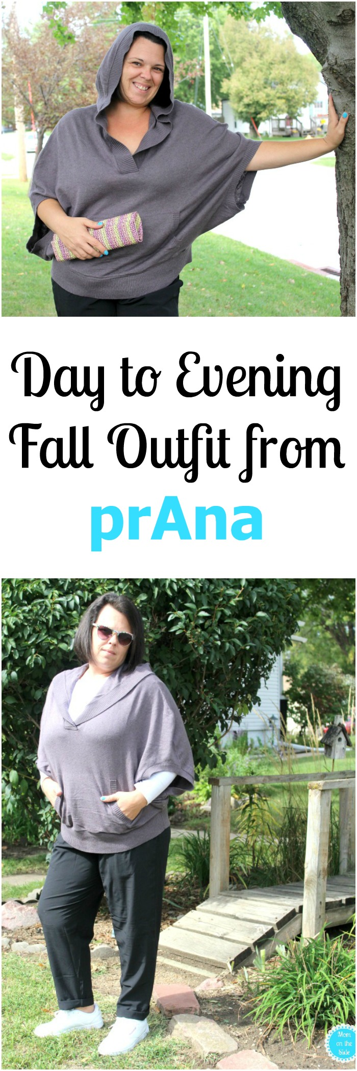 Day to Evening Fall Outfit from prAna - Daria Sweater Hoodie and Uptown Pants