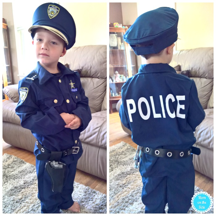 Police Man Halloween Costumes for Little Kids