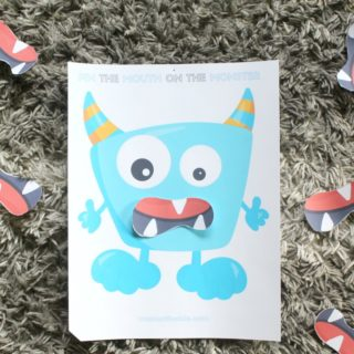 Fun Printable Halloween Game for Kids: Pin the Mouth on the Monster