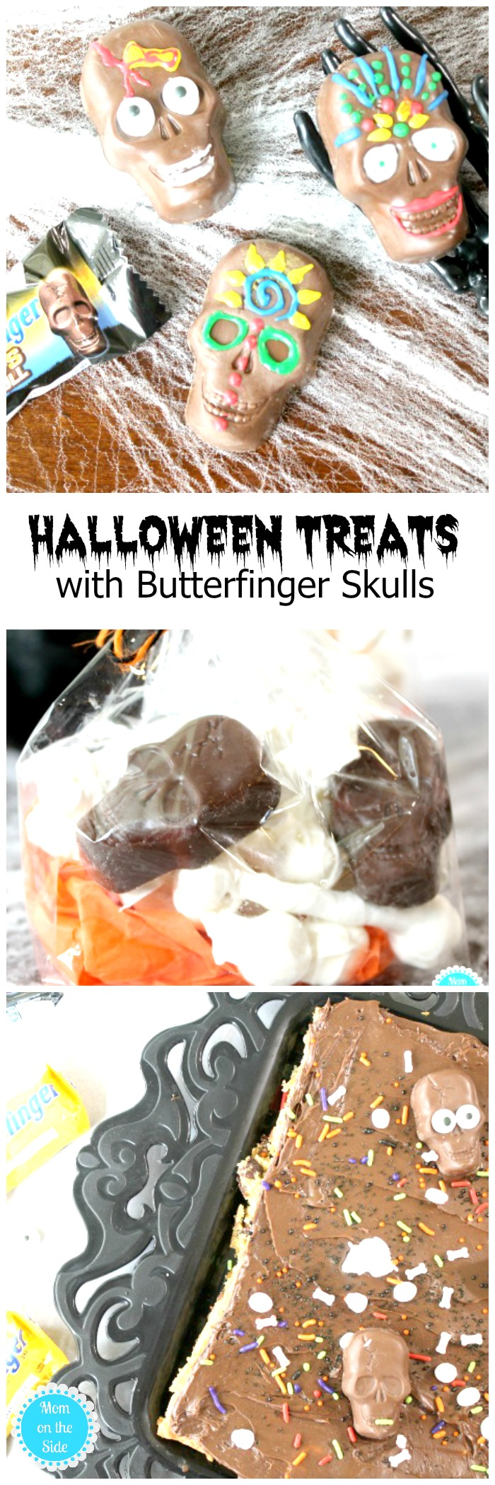 Like simple and fun treats for holidays? Here are 3 easy Halloween Treats with Butterfinger Skulls! New Butterfinger Skulls Cups are at Walmart this season!
