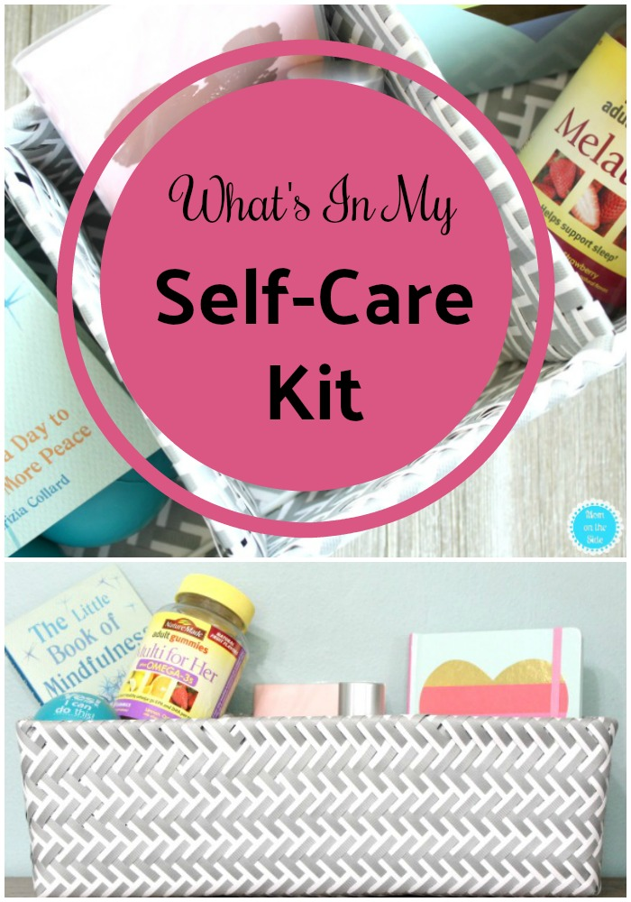 Self-Care for Moms: Self Love is important and part of that is taking care of ourselves. Here's what's inside my self-care kit to help me do that!
