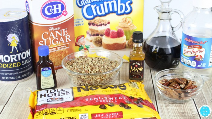 Ingredients for Maple Bourbon Pecan Pie Truffles