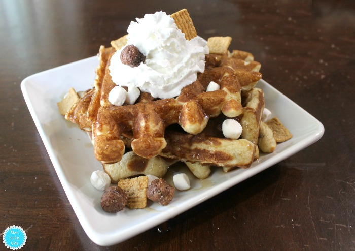 S'mores Waffles for Breakfast