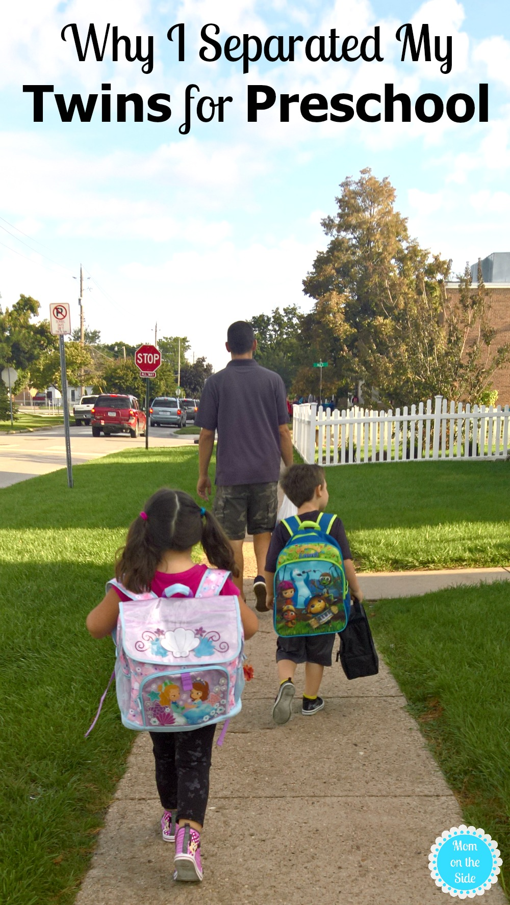 As a mom of twins, whether or not to separate twins for preschool is no easy decision. It's something I started thinking about a year before my twins started school and here's why I separated my twins for preschool.