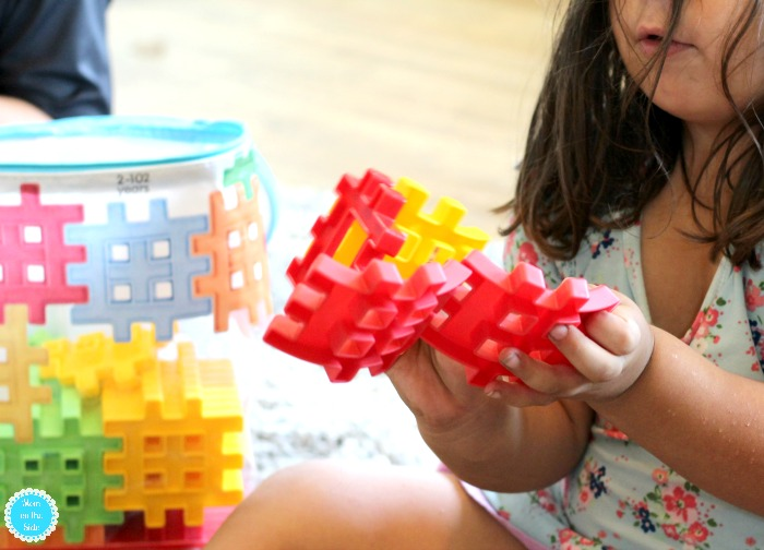 Playing with Little Tikes Waffle Blocks