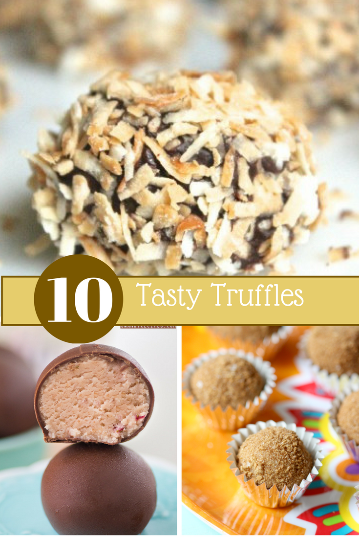 Delicoiusly easy truffles! Here are 10 tasty truffle recipes that you'll want to make for dessert!