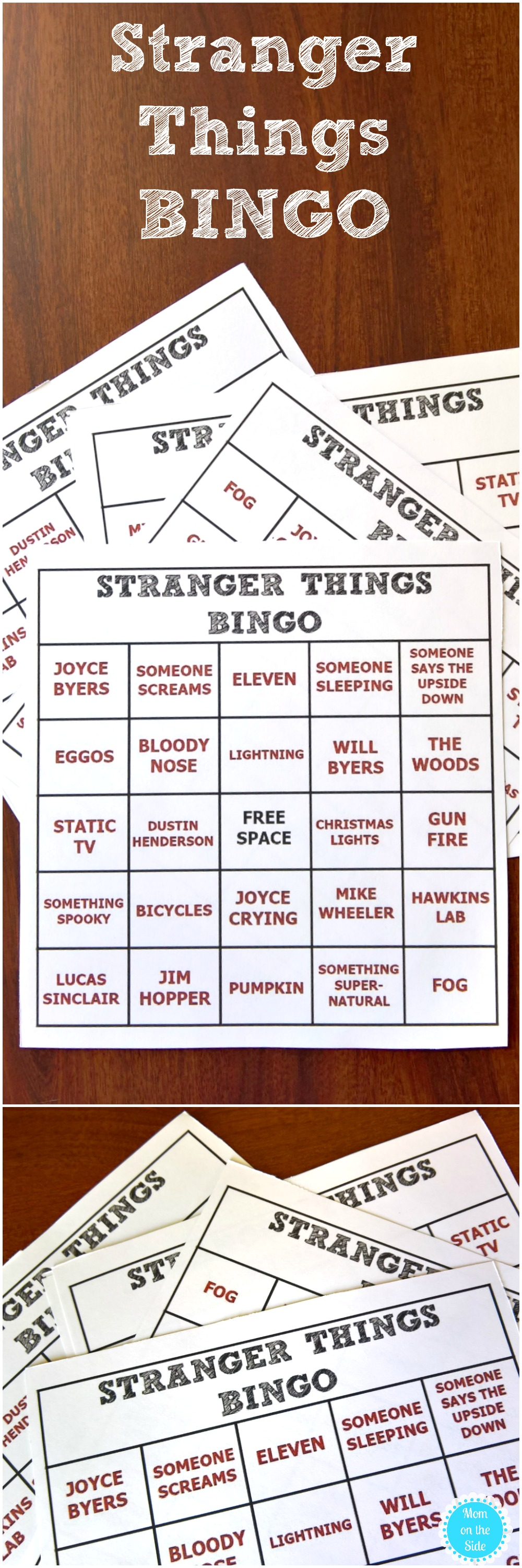 Stranger Things 2 is coming and these Printable Stranger Things BINGO Cards will add to the excitement!
