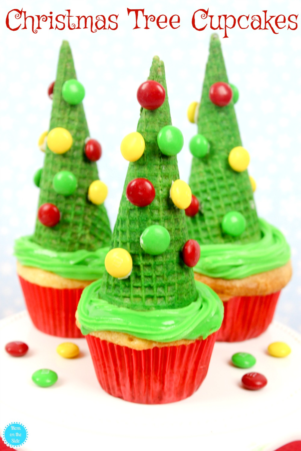 A fun and easy Christmas Dessert, the kids will love these Christmas Tree Cupcakes