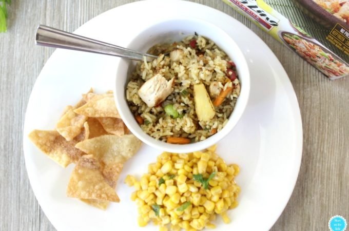Easy Dinner: Ling Ling Thai Style Fried Rice with Lime Corn Salad