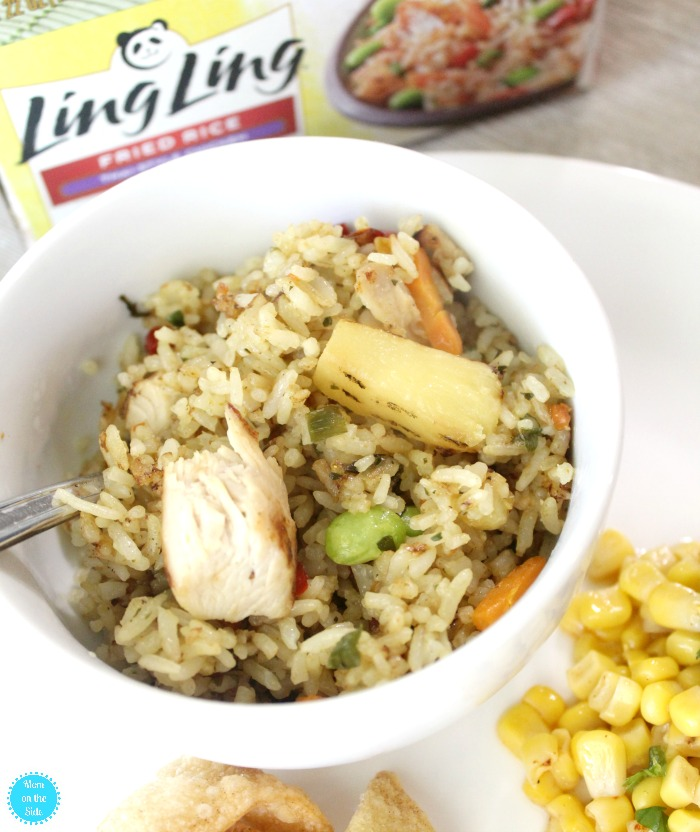 Ling Ling Fried Rice and Lime Corn Salad for Dinner