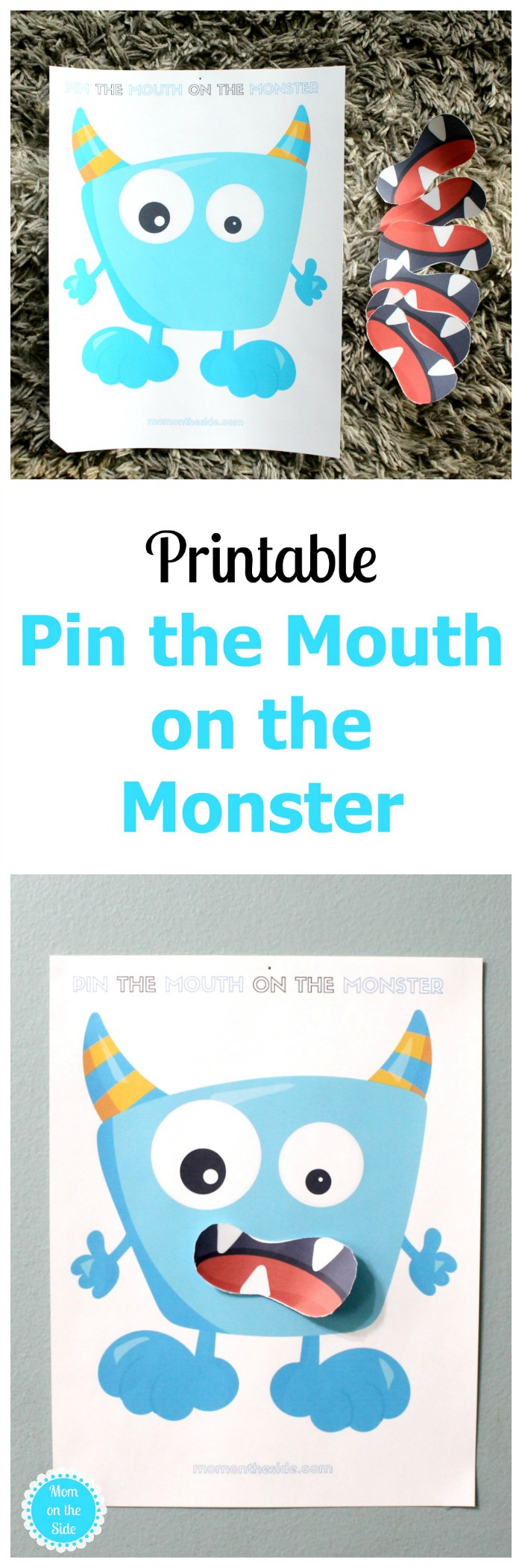 Free Printable Halloween Game: Pin the Mouth on the Monster