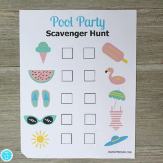 Printable Pool Party Scavenger Hunt for Kids