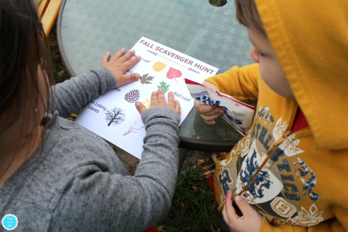 Free Printable Outdoor Fall Scavenger Hunt for Kids To Do