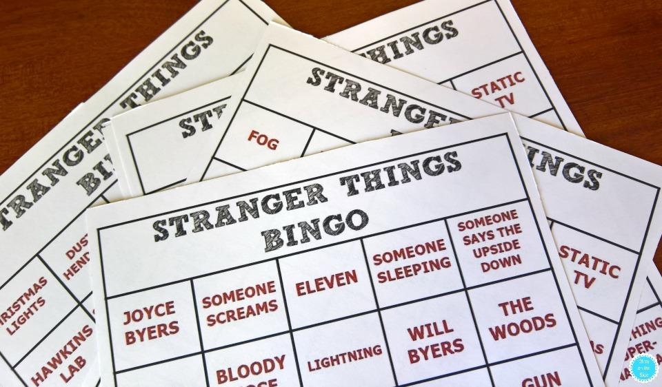 Free Stranger Things Printable Bingo Cards