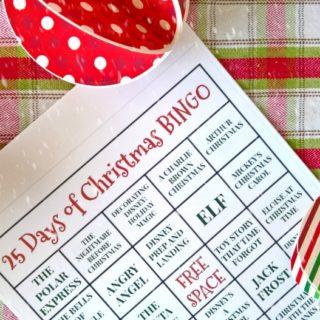 25 Days of Christmas BINGO