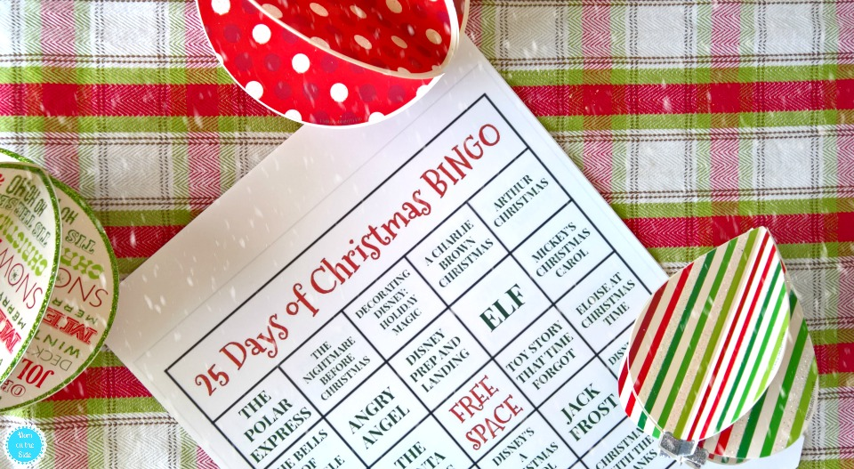 Printable 25 Days of Christmas BINGO Cards