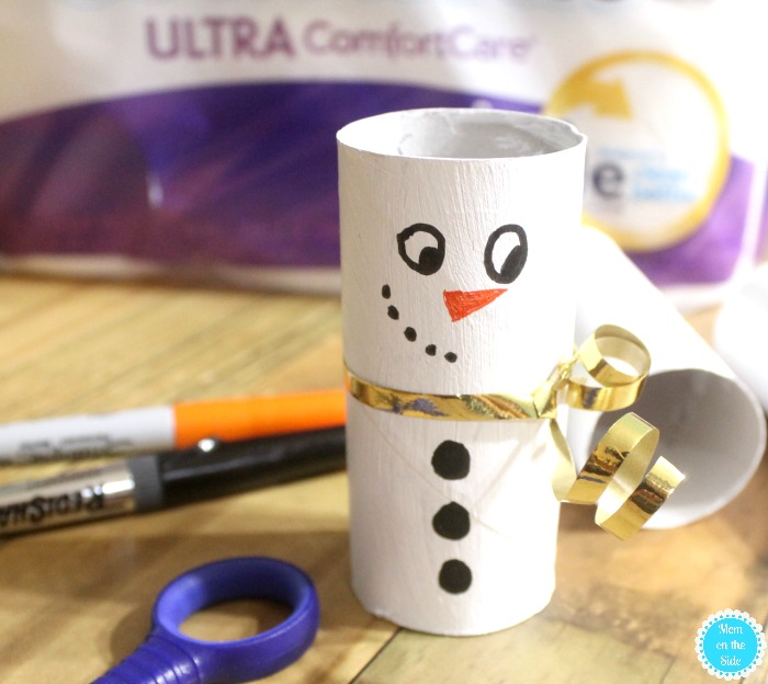 Kids Christms Craft: Toilet Paper Tube Snowmen
