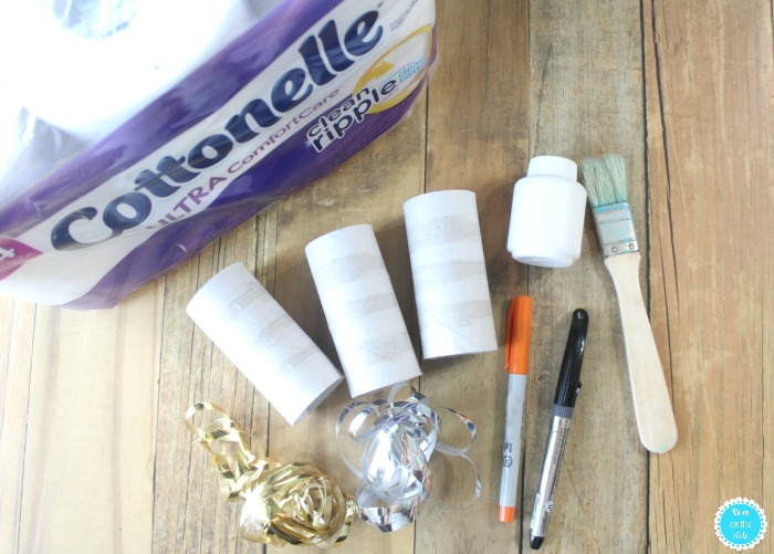 Supplies for Toilet Paper Tube Snowmen